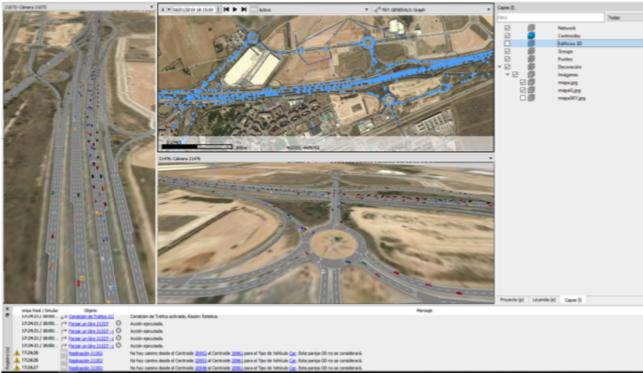 Simulacion de tráfico Madrid